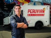 "Giuseppe Lanzone in fron of his DC foodtruck ""Peruvian Brothers"""