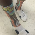 This pair of Nike elite socks features the Fresh Prince of Bel Air, Will Smith.