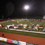Even in the early hours of the morning Relay for Life teams kept walking. Tents with plenty of warm clothing and blankets were the escape from the still-chilly environment.