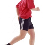 Teenager running