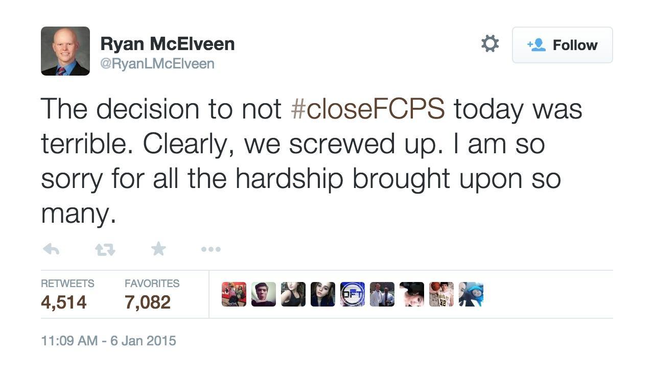 McElveen's Tweet of Apology