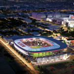 The stadium will be located just a few blocks away from Nationals Park (Courtesy of D.C. United)