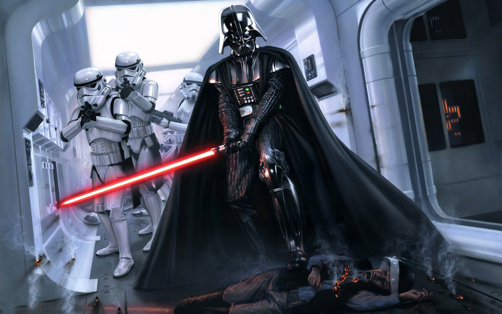 Darth Vader Star Wars Movie Hd Wallpaper 1920 1200 The Highlander