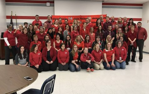 MHS teachers go #RedforEd in protest of Betsy DeVos nomination
