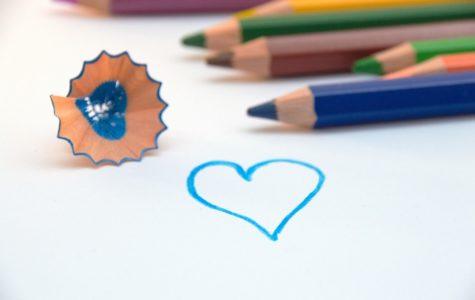 Colorful Colored Pencils Heart Colour Pencils Paint