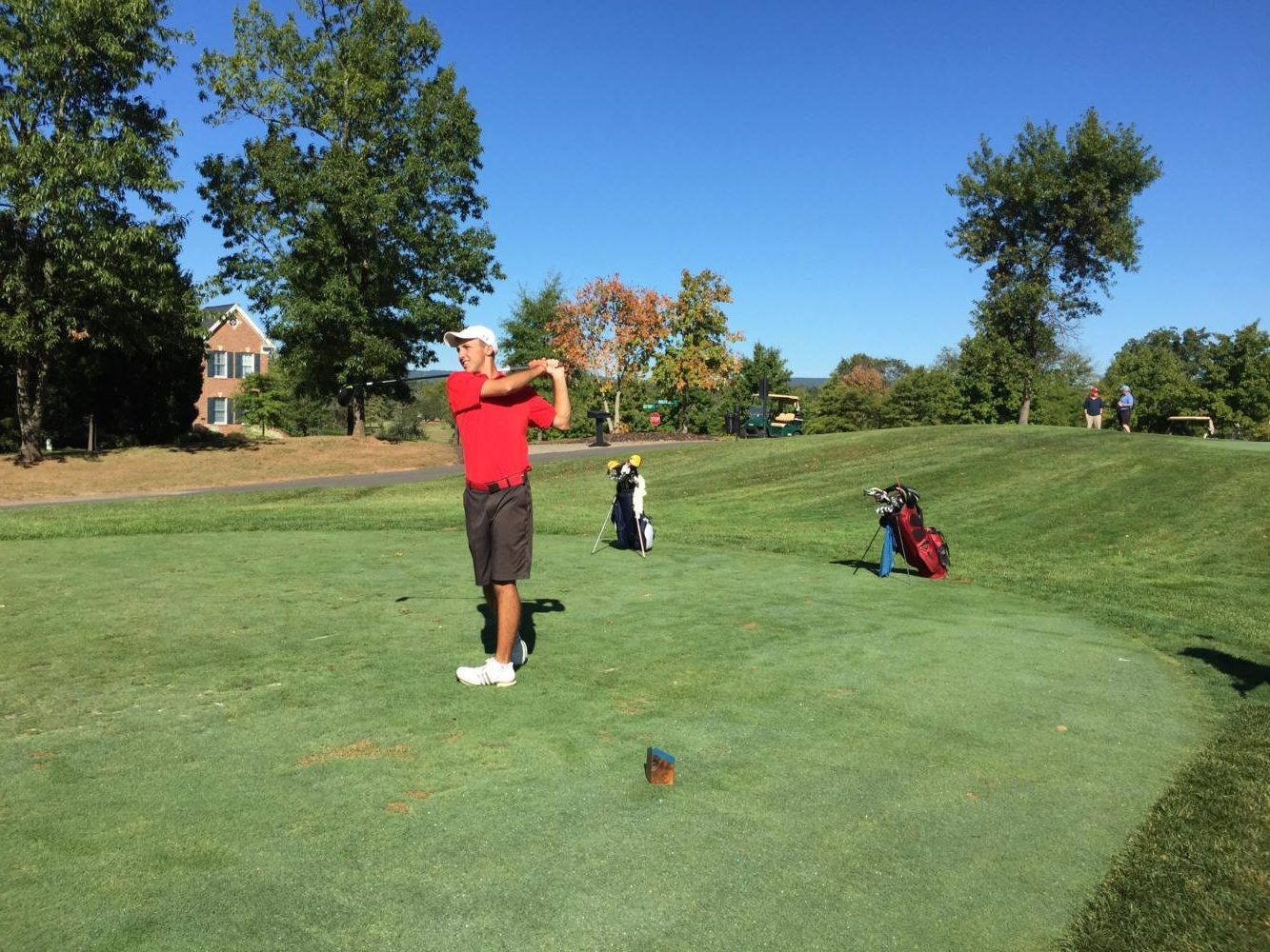 Senior Tommy Schilder watches his shot (Photo courtesy of Tommy Schilder)