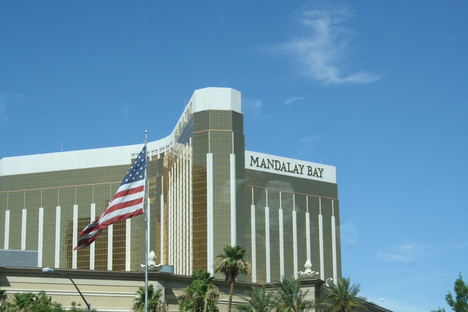 The shooter broke two windows from his room in the Mandalay Bay Hotel, where he was able to shoot at concert attenders down below.