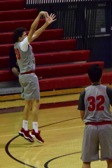 Legg shoots a two-pointer in McLean's scrimmage against Fairfax on Nov. 18.