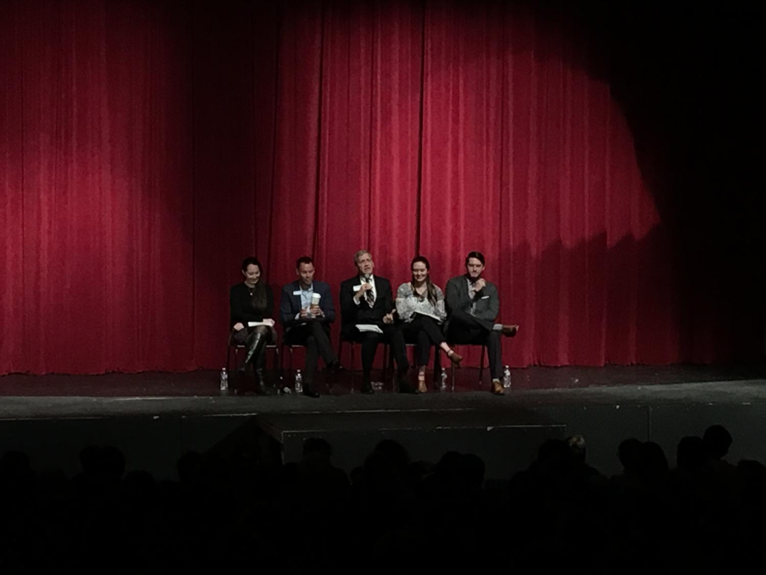 The panel of admissions officers shared advice that pertained to selecting and applying to colleges.