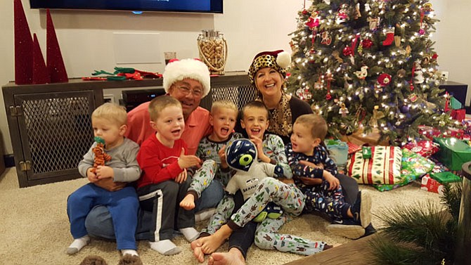 Mike and Cindy Zook and their five grandsons, Brayden, Landon, Reid, Evan and Parker. (Photo courtesy of Cindy Zook)