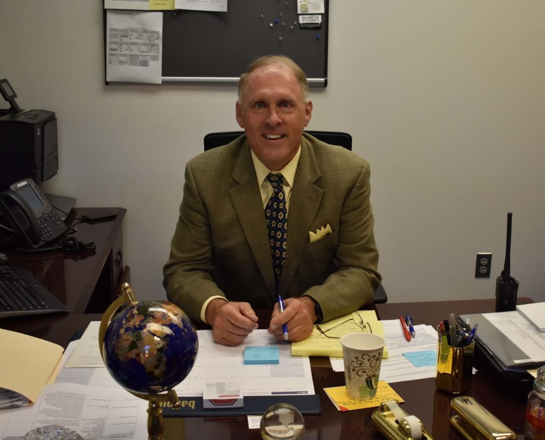 Meier resides at his new desk in the front office of McLean.
