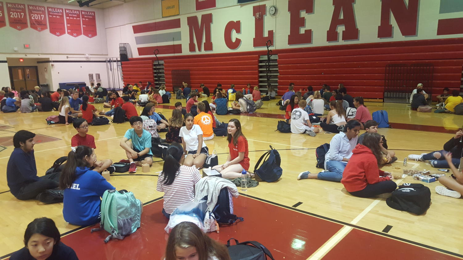 Freshmen met with their Big Macs during Highlander Time 8 on Friday. The goal of the McLeadership program is to ease the transition from middle to high school. (photo by Maren Kranking)