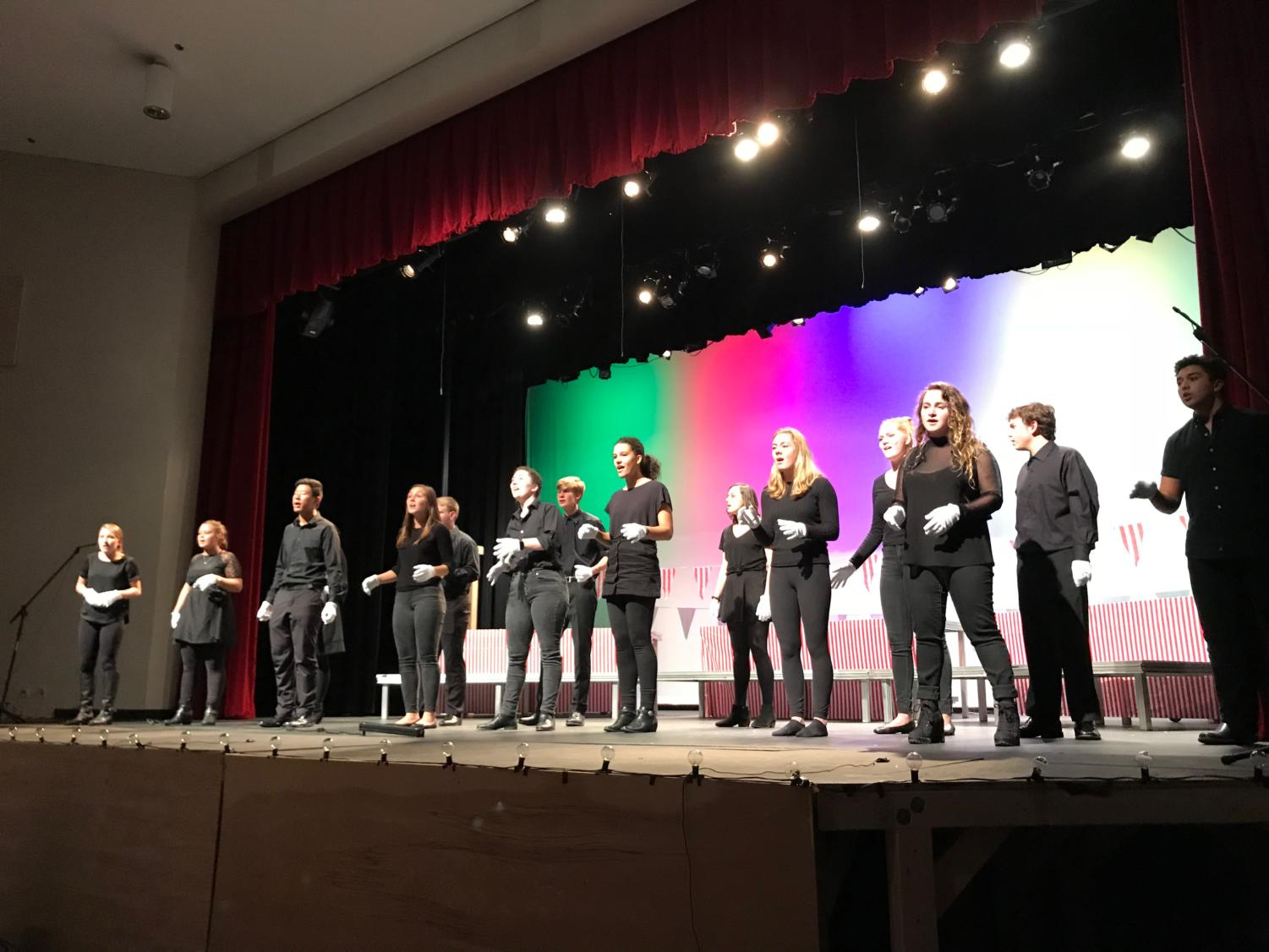 The MHS choir sings a set of songs related to their theme