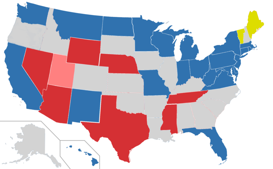 This map is showing the states up for midterm 2018 election