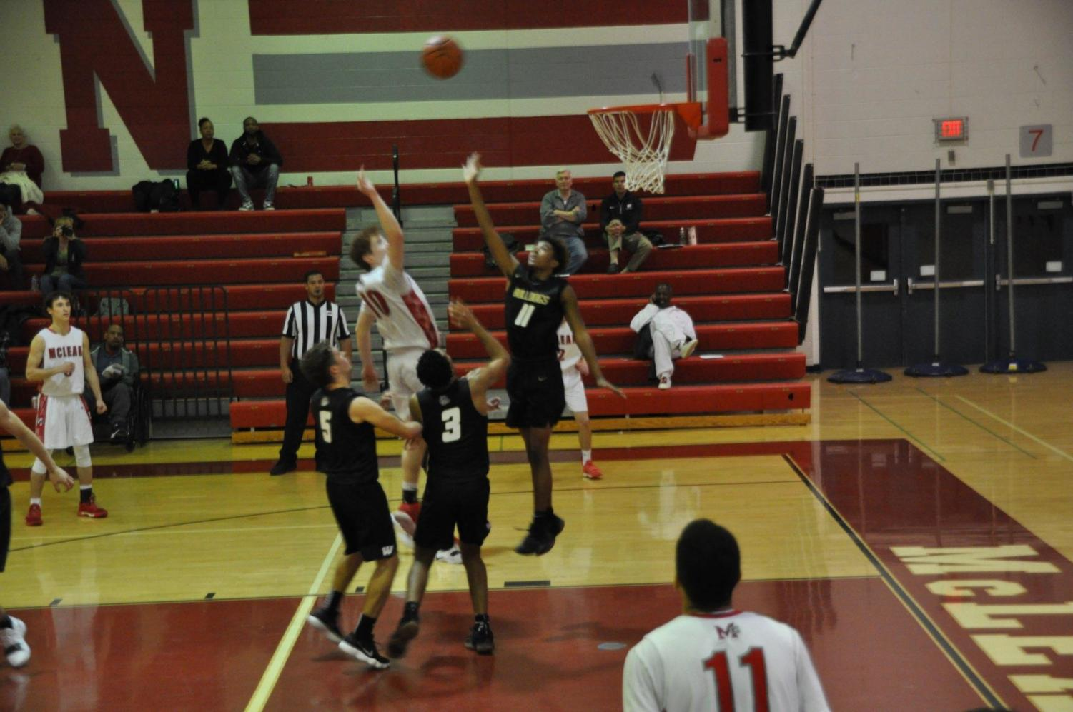 Matias Prock hits go ahead floater against Westfield Friday Dec. 7.