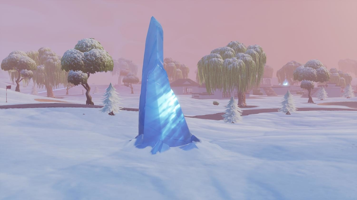 An in game look at Fortnite's new winter landscape