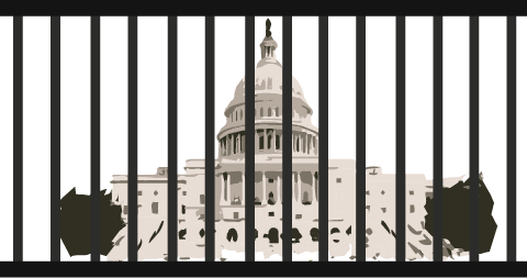 U.S. Capitol locked behind cell