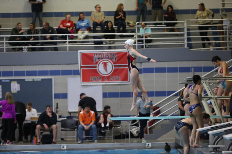 Zazi+Halla+prepares+for+her+dive+in+the+girls%27+one-meter+division+at+states.+She+finished+in+fourth+place.%0A