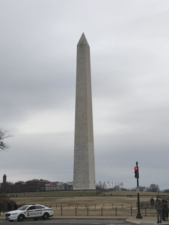 The Washington Monument was finished in 1888 and still stands tall at 555 feet and 5 inches tall today.