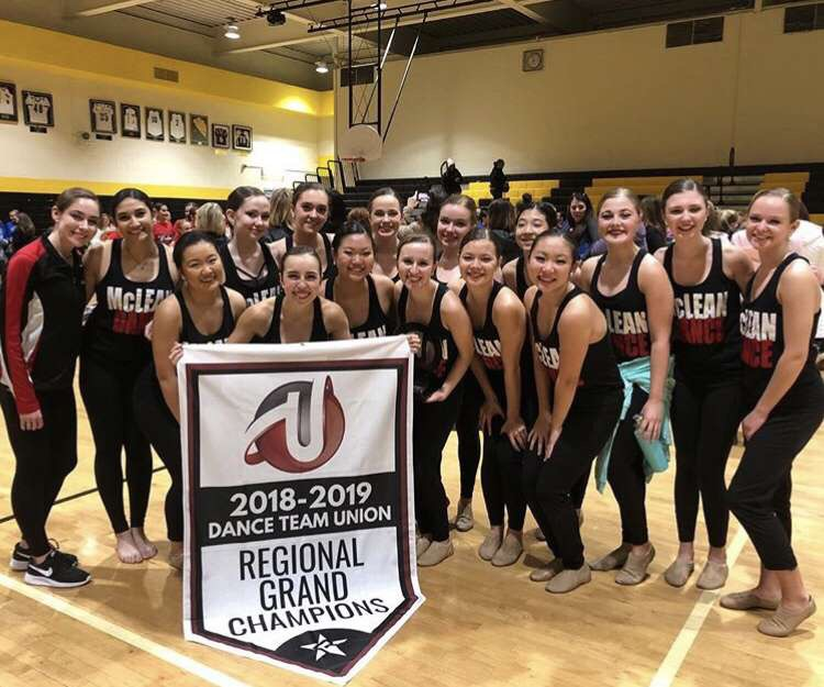 The Dance Team at a regional competition. They won first place.