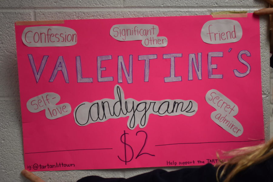 Tartan Literary Magazine makes a poster to promote their candy grams. They sold the candy grams for $2 each.