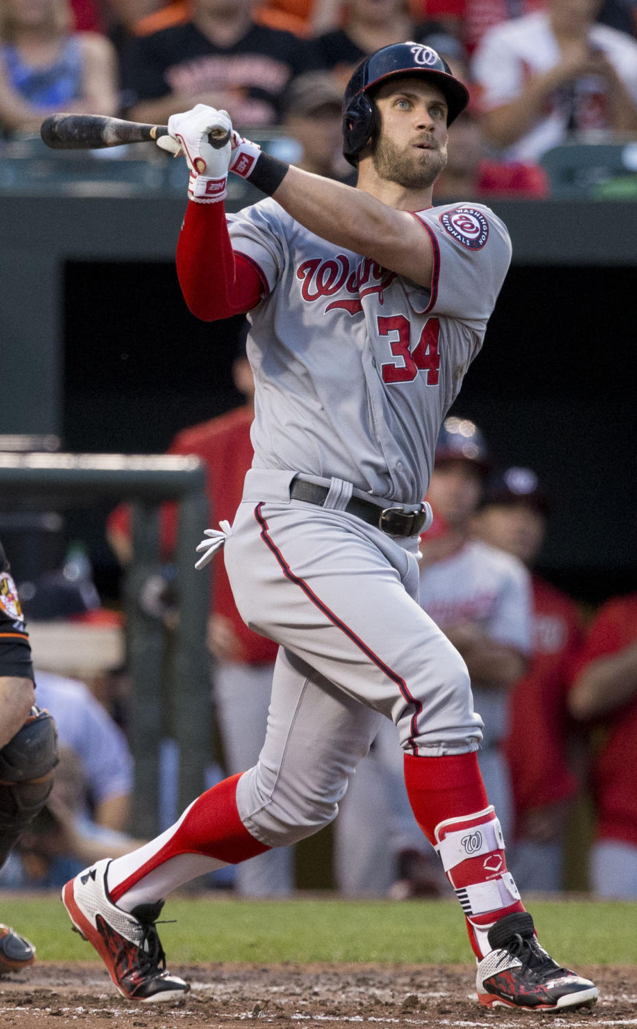 Bryce Harper spent his first 7 seasons on the Washington Nationals. Following the 2018 season, Harper signed with the Philadelphia Phillies.