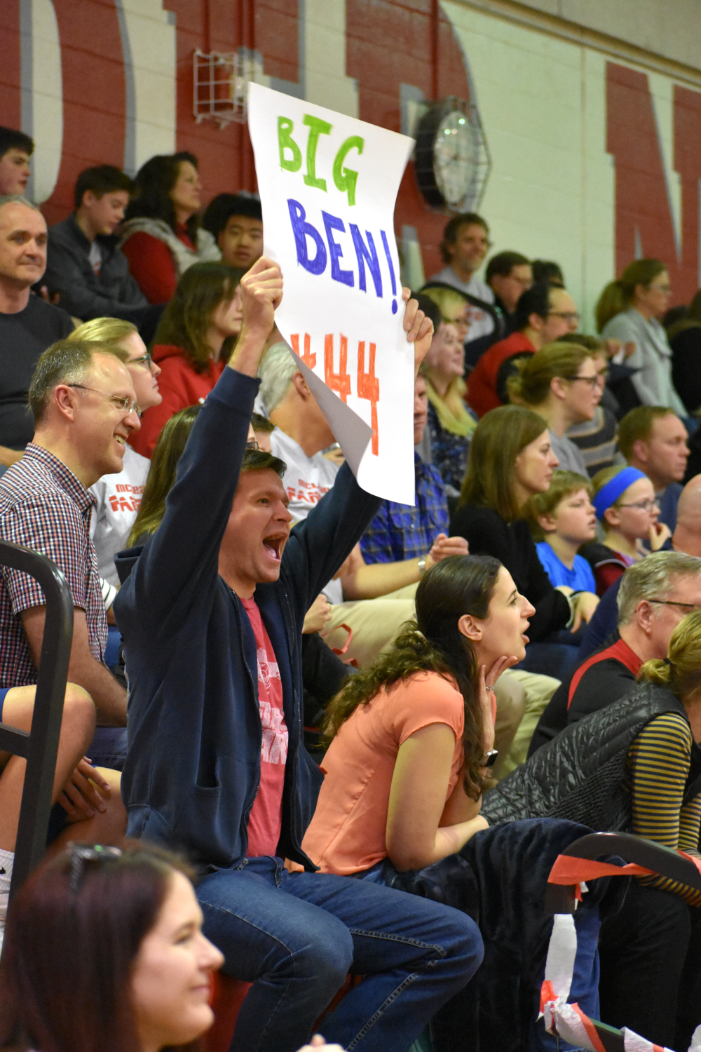 Spectators+brought+signs+to+encourage+players+on+the+team%2C+such+as+this+one+supporting+Baker.+%28photo+by+Maren+Kranking%29