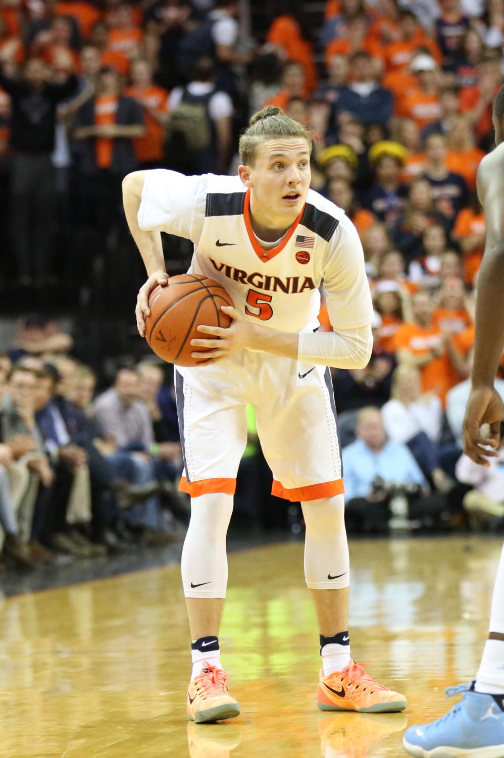 Virginia's Kyle Guy holds the ball on an offensive possession. Guy has been a key factor in UVA's success this season.