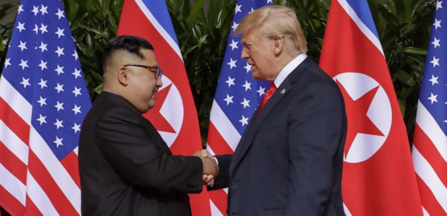 U.S. President Donald Trump meets with North Korean leader Kim Jong-Un. The two were unable to come to a nuclear agreement.