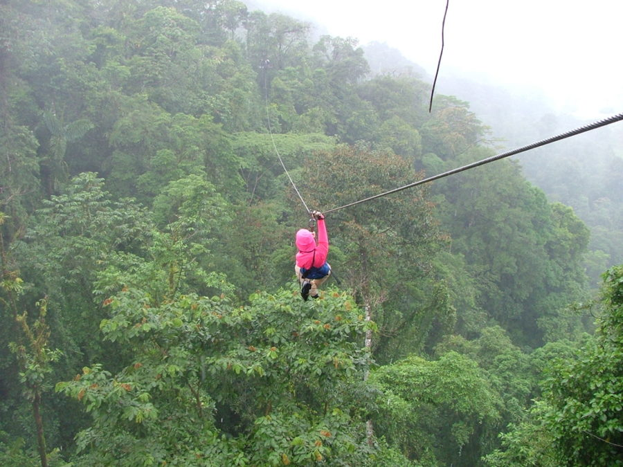 Zip-lining will be one of the scheduled activities in Costa Rica.
