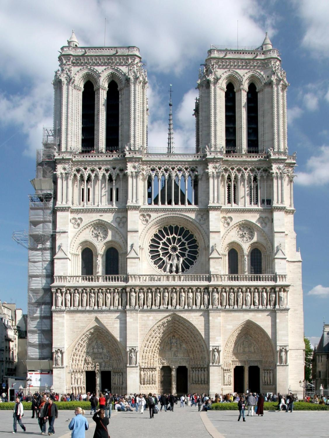 The historic Notre Dame Cathedral caught fire Monday (photo obtained via google images under a Creative Commons license)