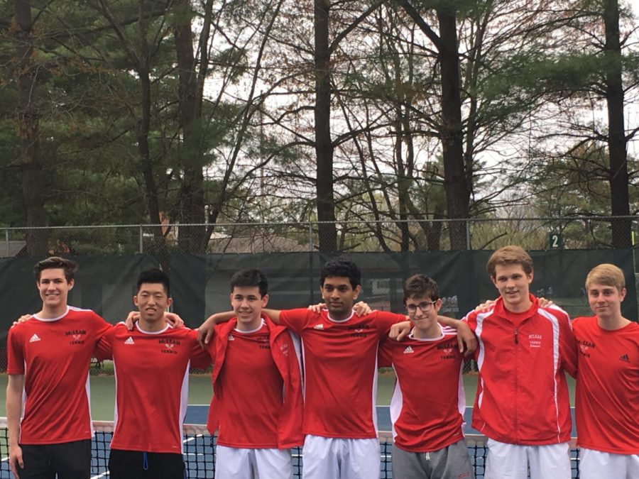 Seven+seniors+will+be+leaving+the+tennis+team+after+this+year.+Senior+night+was+their+last+home+match.+