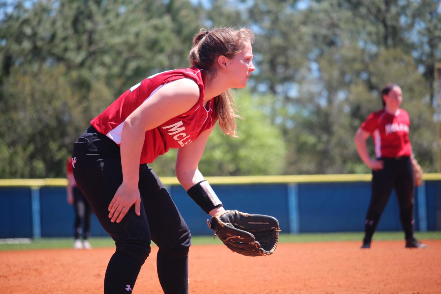 Senior Bailey Johnson plays at the Grand Strand Softball Classic on April 15. This was Johnson's last year attending the tournament, as well as the other seniors on the team. (photo courtesy of Bailey Johnson)