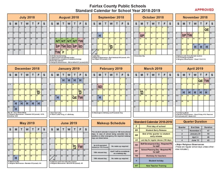 Fcps Calendar 2019.Fcps Calendar Leaves Much To Be Desired The Highlander