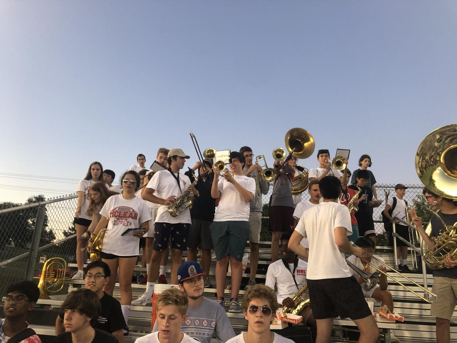 The+McLean+pep+band+play+throughout+the+game.+They+worked+to+increase+excitement+among+spectators.