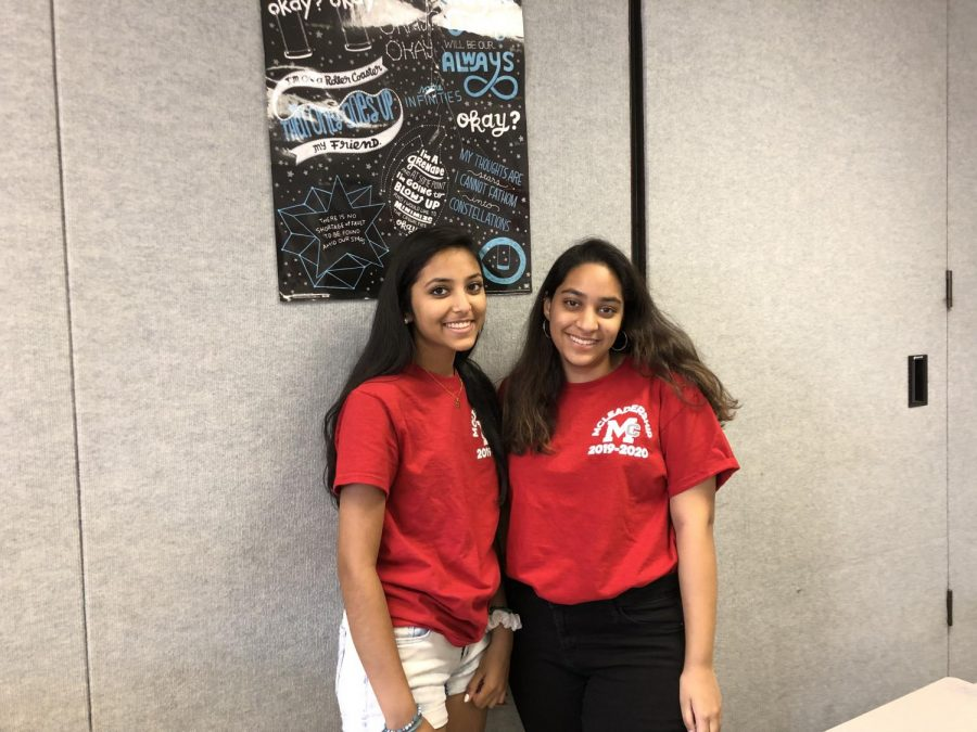 Big Macs Saankya Gundlapalli and Saisha Dani after their McLeadership connect groups. They played tic tac toe with their Little Macs. (Photo by Addie Brown).