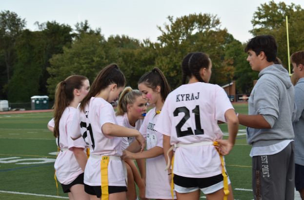 McLean%27s+junior+Tuff+Puff+team+gets+ready+to+put+the+next+lineup+on+the+field.++Girls+in+their+senior+and+junior+years+played+on+Wednesday+night%2C+resulting+in+a+win+from+the+seniors.