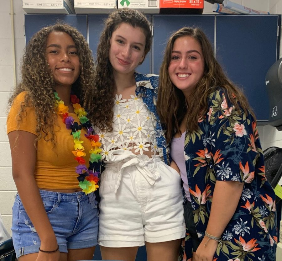 ALOHA — Students dress up in spirit of Hawaii Day. When asked what their favorite day was they all responded with Hawaiian day.