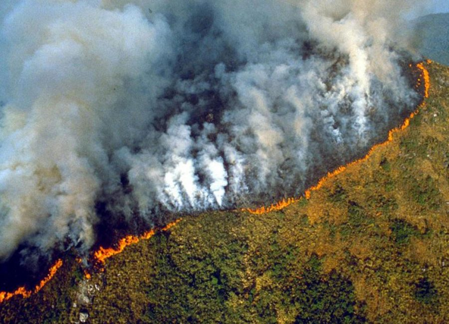 Raging wildfires storm through Brazilian mountains (Image obtained via Creative Commons license).