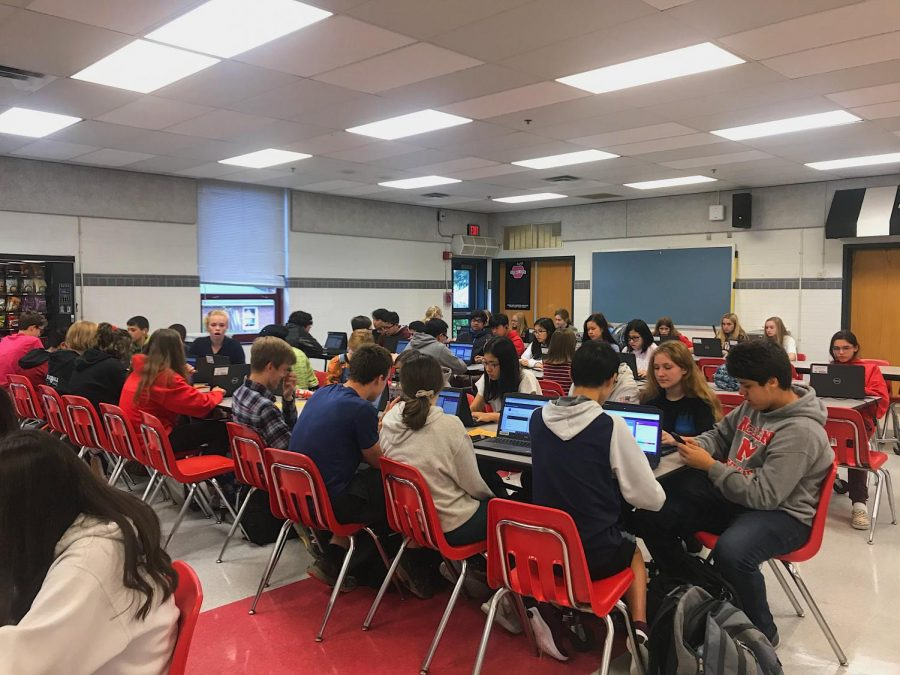 Freshmen complete online activities through Naviance. This reflects a broader effort to help freshman feel prepared for their high school experience.