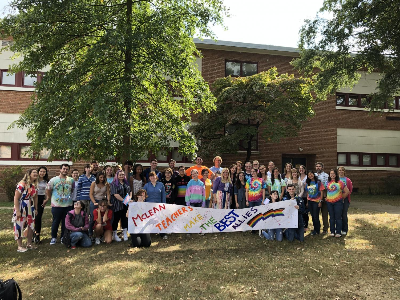 GSA celebrates Ally Week with McLean teachers on Sept. 16, 2018. Photo taken by Saisha Dani.