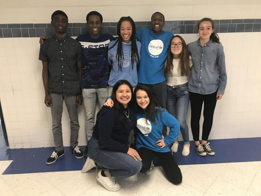 Students+participate+in+blue-out+to+support+World+Children%27s+Day.+McLean%27s+UNICEF+Club+created+the+blue-out+in+order+to+spread+awareness+for+this+children+who+are+in+need.+%28Photo+taken+by+Rebeka+Rafi%29