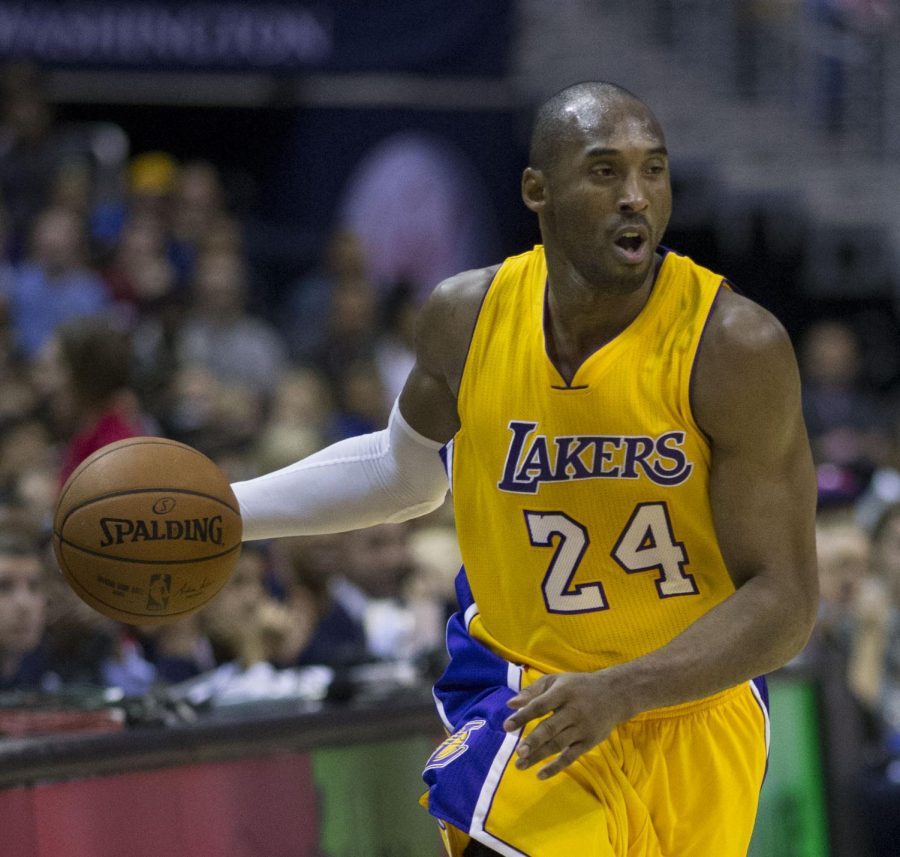 Kobe Bryant drives to the hoop during a game. Bryant passed away early Sunday morning in his helicopter. (Photo obtained via google images under a creative commons license.)