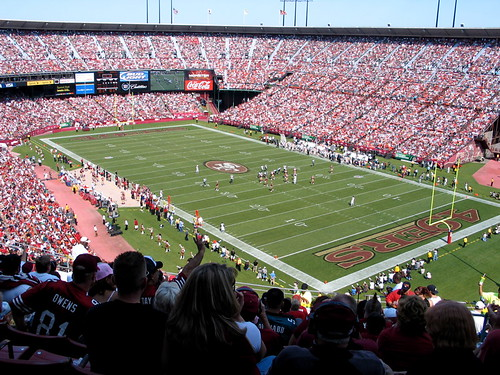 Levi's stadium on a warm fall day where the 49ers play