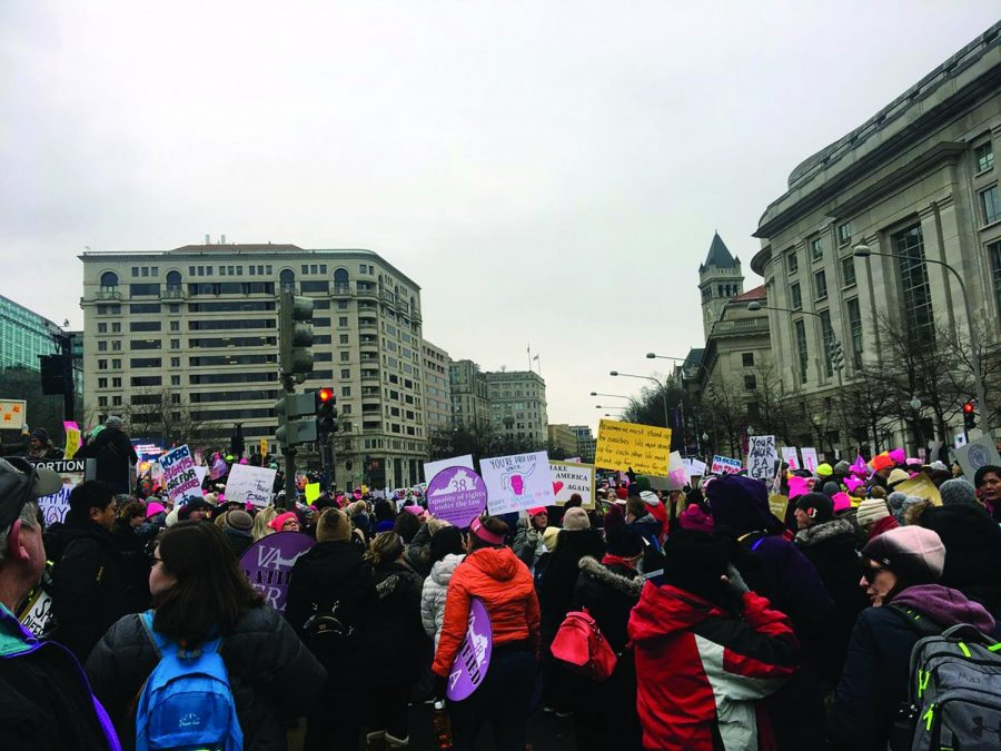 The Women's March returns to D.C. for the fourth year in a row, bringing feminists into the streets. This protest, specifically aimed at the Trump Administration, occured on Sat. Jan. 18.
