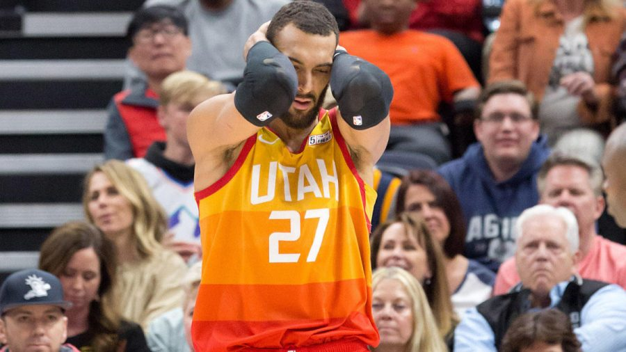 Utah+Jazz+Center+Rudy+Gobert+is+the+first+NBA+player+to+test+positive+for+COVID-19%2C+prompting+aggressive+security+protocol+from+the+National+Basketball+Association.