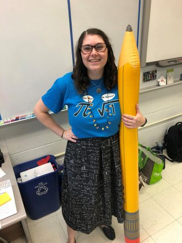 FRIZZLE FRASIER — Math teacher Rachel Frasier dresses up for Halloween in school last year. Prior to the pandemic, she came to school in a costume to celebrate the holiday. (Photo courtesy of Rachel Frasier)