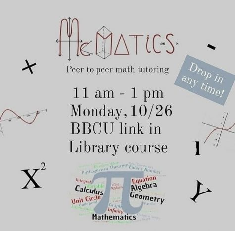 McMatics aims to help students succeed in virtual math courses of all levels and offers drop-in tutoring every Monday. To request a long-term tutor, students can contact their math teacher or fill out the Google Form linked in the McMatics Instagram bio. (Image obtained via McMatics Instagram)