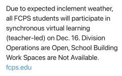 Bad news — The FCPS twitter account releases their long awaited decision. In the comment section, people argue whether the choice was unjust or fair given the circumstances.