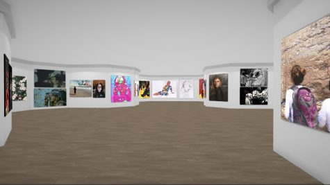 VIRTUAL GALLERY EXPERIENCE — Visitors can walk through the gallery and click on the artwork. You can increase the size of individual pieces to really just fill up the whole wall, so I think that allows you to really showcase the piece, Elias said.